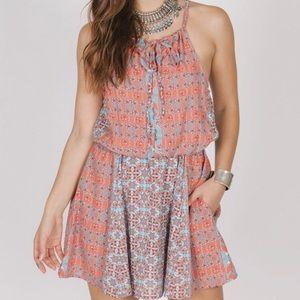 NWT Coral Print Halter Dress